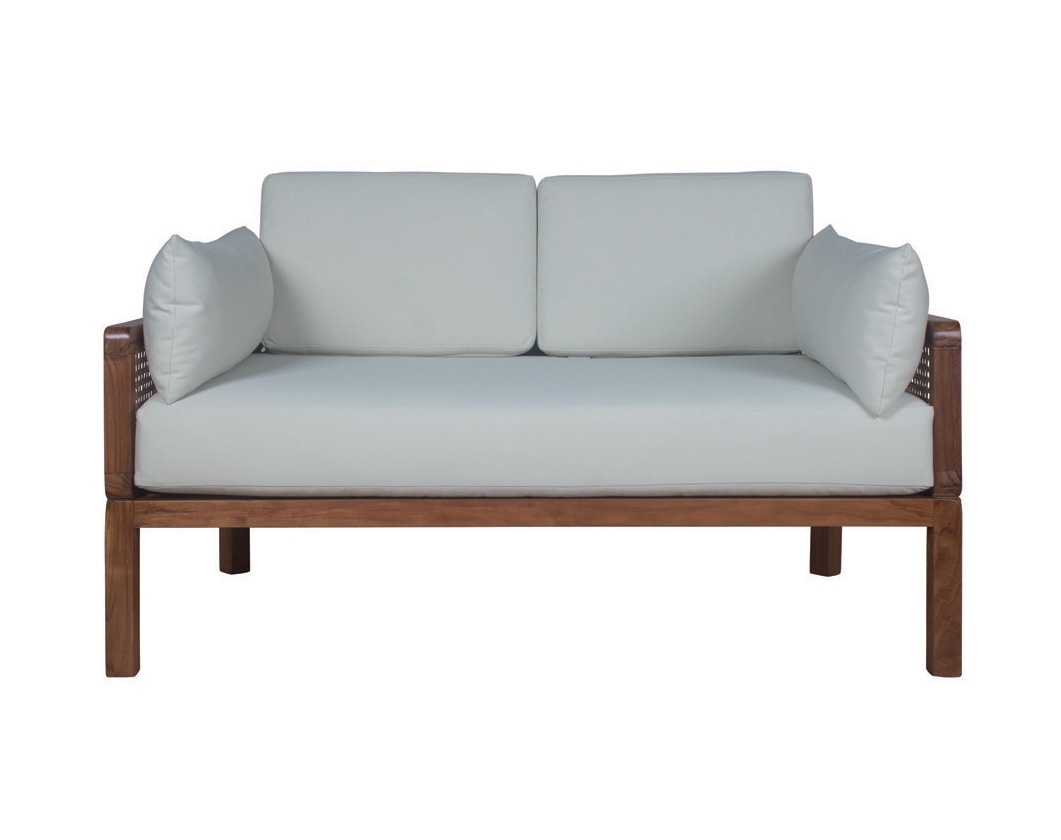 Dual 0286, Teak wood sofa with Vienna straw woven