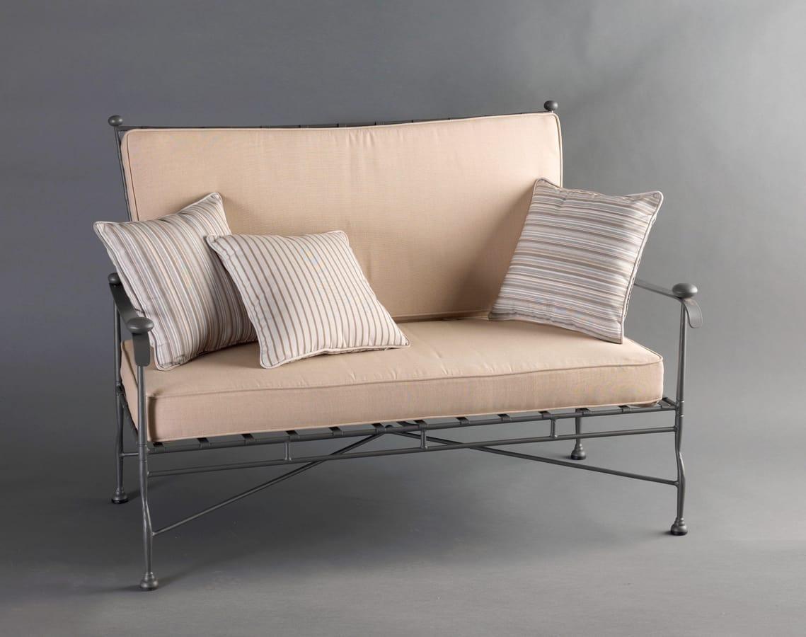 INTRECCIO GF4004SO-2P, 2-seater sofa in wrought iron for outdoor use
