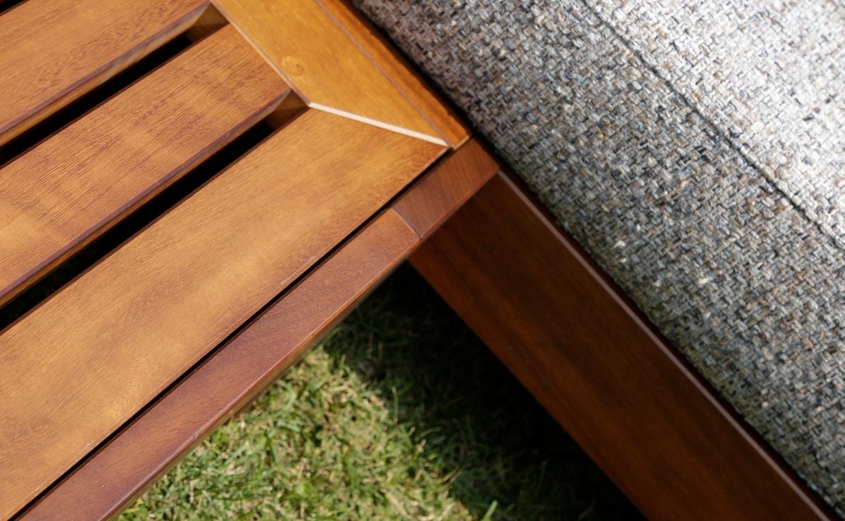Kuba Outdoor, Modular sofa in wood for outdoors