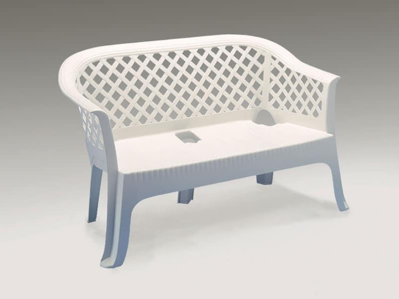 Waterproof sofa made of plastic, for outdoor use | IDFdesign