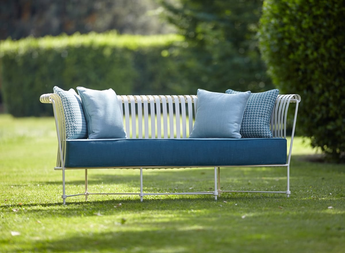 MOLLE GF4001SO, 3-seat sofa in wrought iron for outdoor
