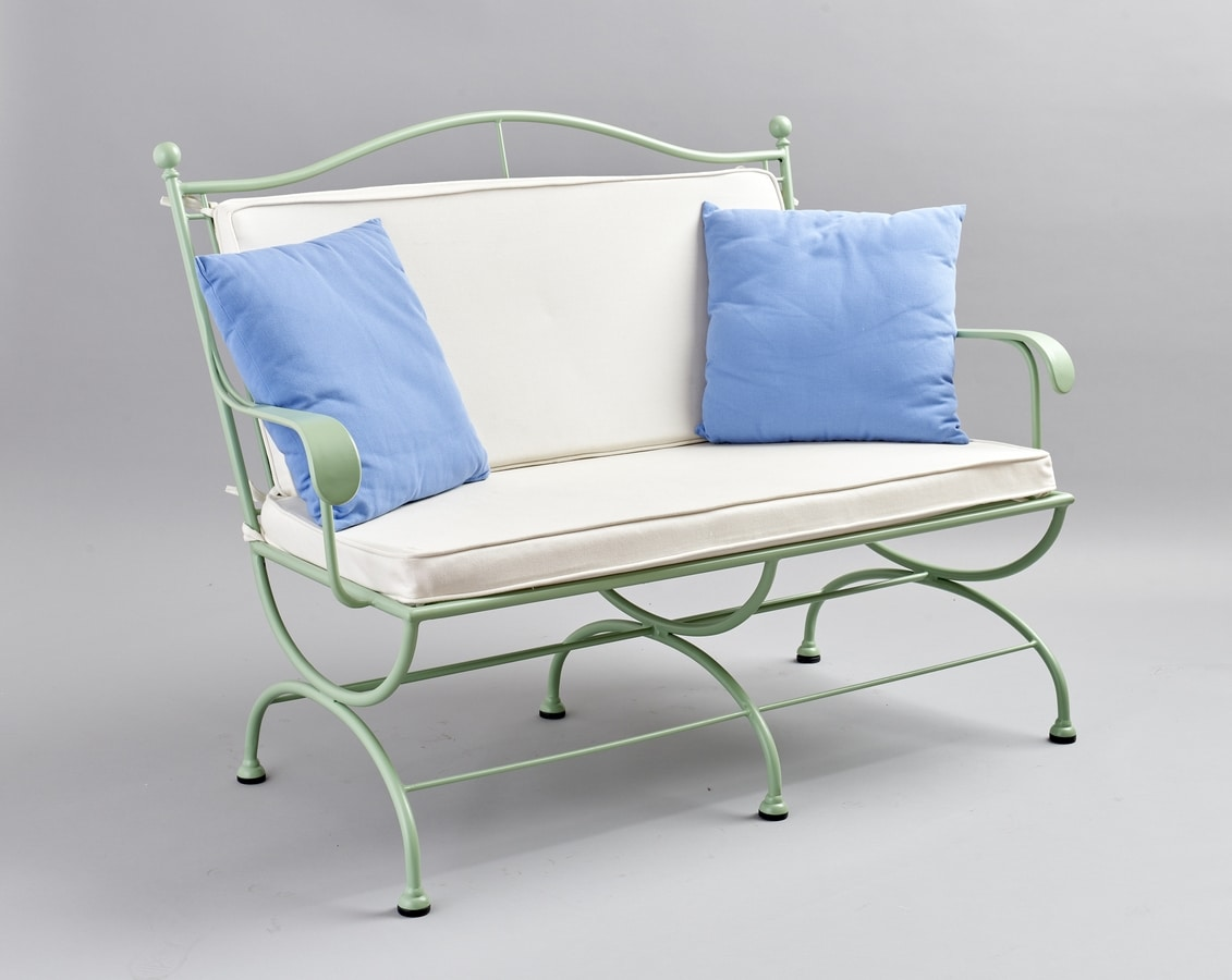 ROMBI GF4002SO-3P, Outdoor iron sofa