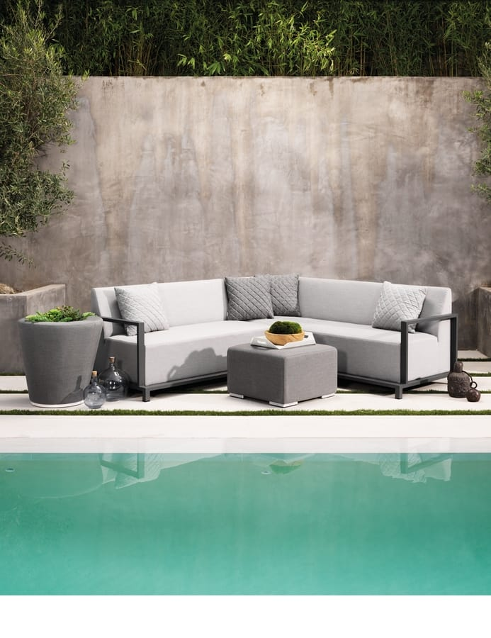 SET COLOMBIA, Outdoor sofa in fast dry foam