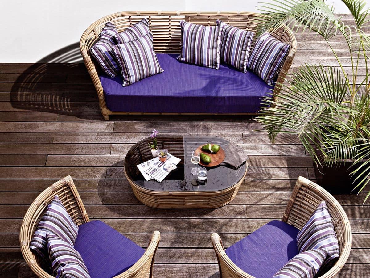 Tonkino sofa, Hand woven sofa, for garden and terrace