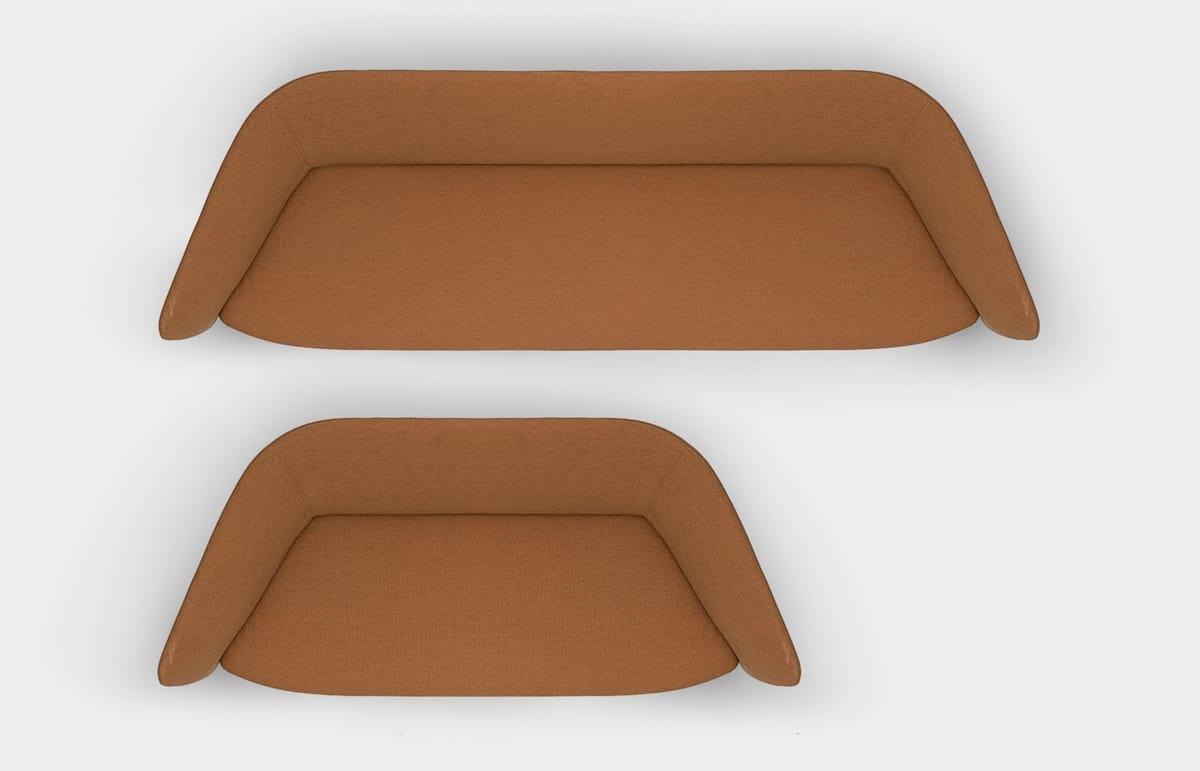 Tuile sofa, 2 or 3 seater sofa, in weatherproof materials