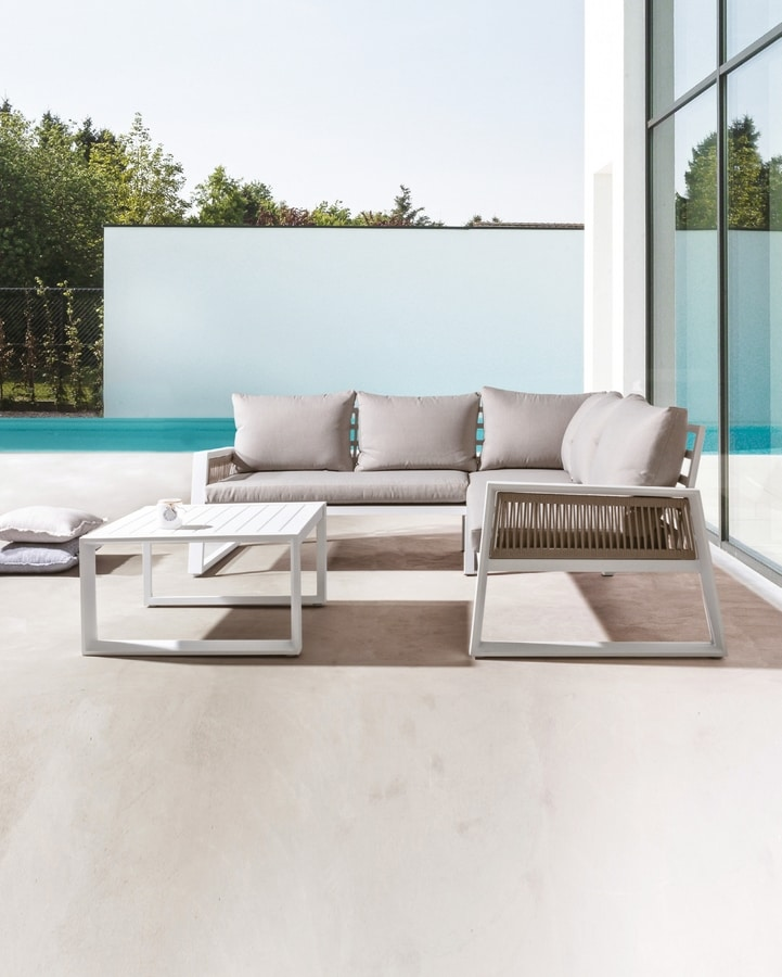 Veracruz angular, Corner sofa for outdoor use