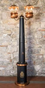 Art. SL 146, Lamppost with central trunk in wood, classic style