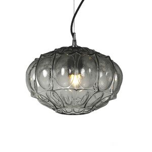 Ginger SE116 1, Suspended lamp made of clear glass in triple layer