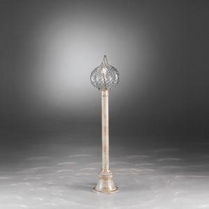 Goccia Ep111-120, Street lamp for gardens, glass diffuser