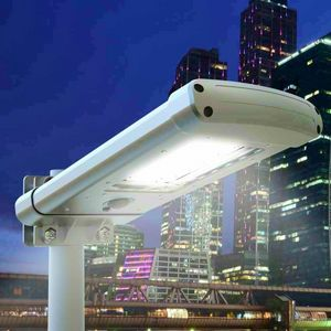 Lamppost 24 LED Solar Twilight Street And Garden STREET, Outdoor lamp with twilight sensor