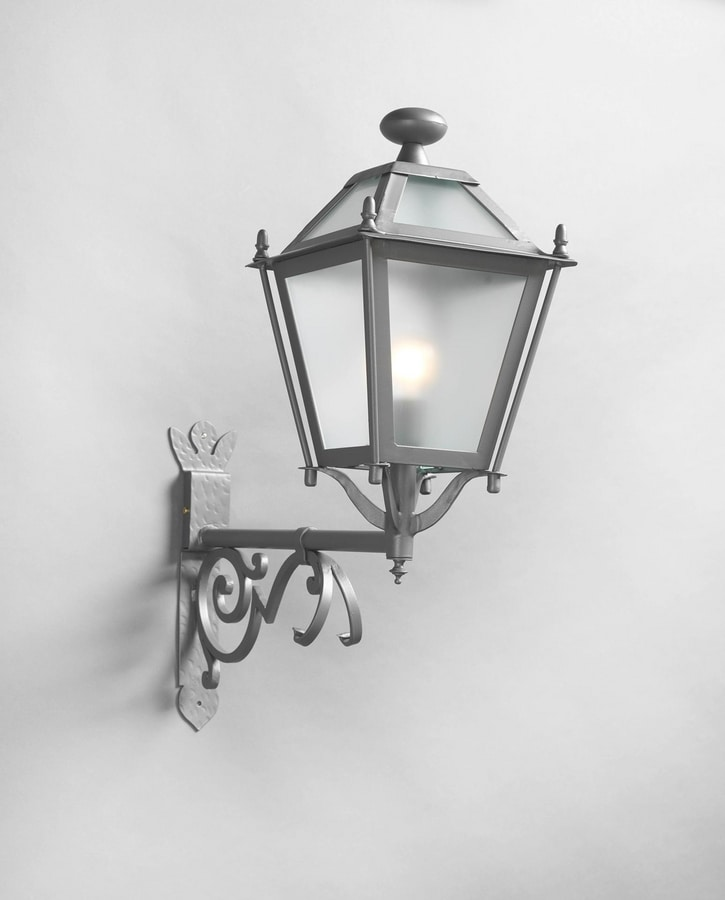 LUNGARNO GL3007AR-1up, Outdoor lantern in gray iron
