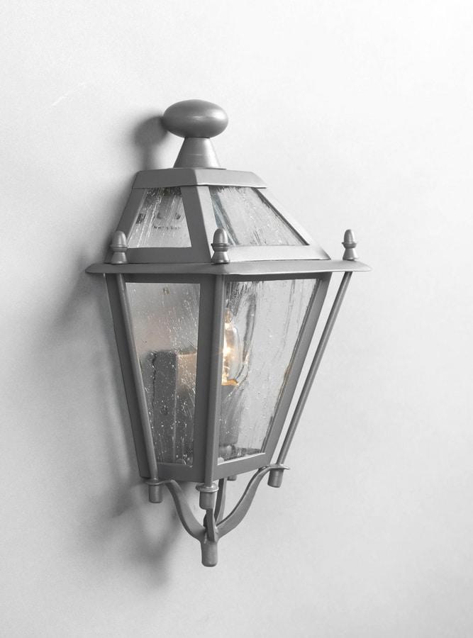 LUNGARNO GL3007WA-1S, Half lantern in iron for outdoor use