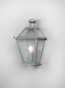LUNGARNO GL3007WA-1SIMPLE, Half lantern with galvanized glass