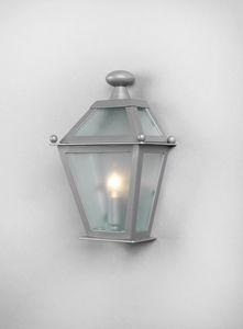 LUNGARNO GL3007WA-1SIMPLE, Half lantern with galvanized glass