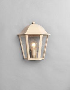 MARMI GL3014WA-1S, Half lantern in beige iron