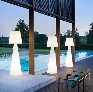 Modern design column floor lamp Pivot by Slide LA PVT, Polyethylene lamp also for outdoor
