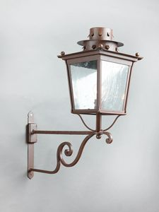 MOROZZI GL3027AR-1UP, Iron lantern with rust finish