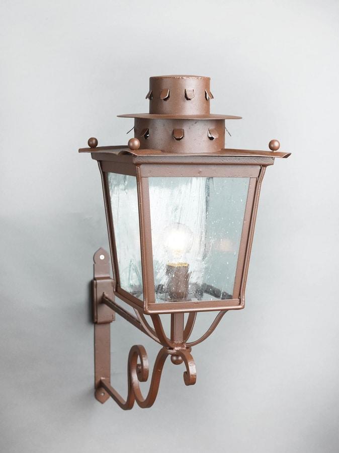 MOROZZI GL3027AR-1UP, Iron lantern with rust finish