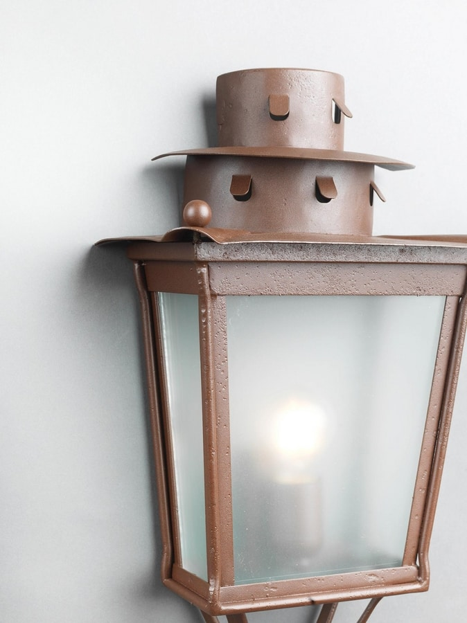 MOROZZI GL3027WA-1, Half lantern in iron with rust finish