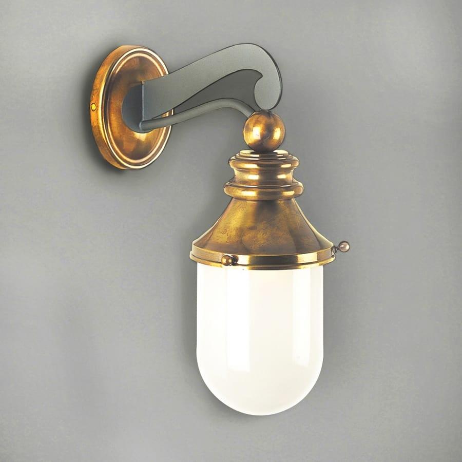 NEMO GL3010WA-1, Outdoor lantern in iron with glass