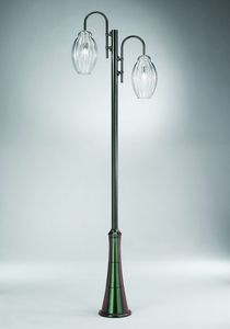 Sfera Ep362-300, Lamppost with two glass diffusers