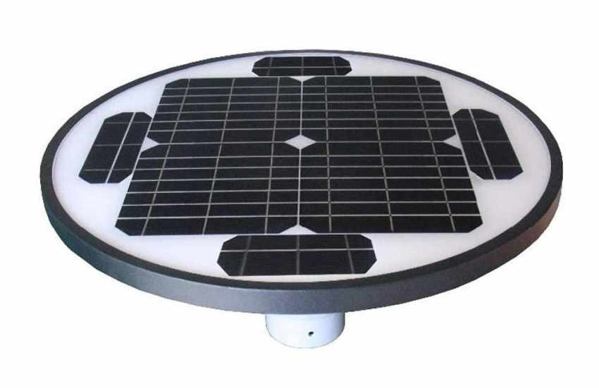 Street Lamp Photovoltaic Solar Photovoltaic Garden SQUARE Park, Outdoor lamppost with photovoltaic panel