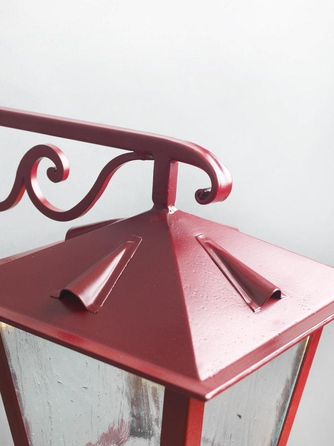 TOSCANA GL3029AR-1dw, Lantern in opaque red iron