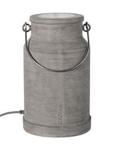 Via Lattea HP127 1G, Floor lamp, shaped like a milk bucket, in concrete