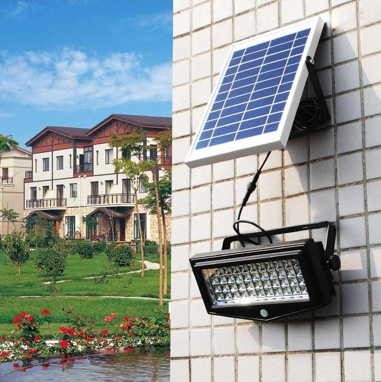 Wall Spotlight Solar Led Light Garden Motion Sensor FLEXIBLE NEW, Wall-mounted spotlight with photovoltaic panel