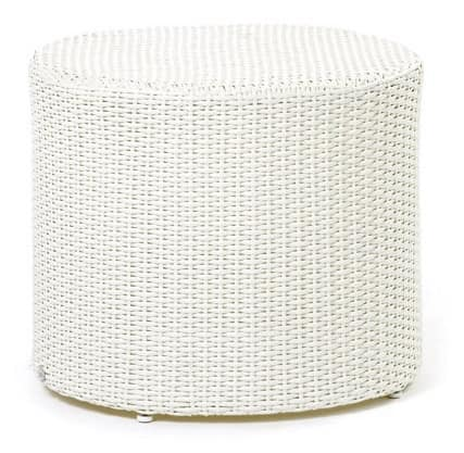 Arena side table, Round low table, woven, for swimming pools