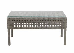 Argali 4430, Rectangular coffee table in synthetic rattan