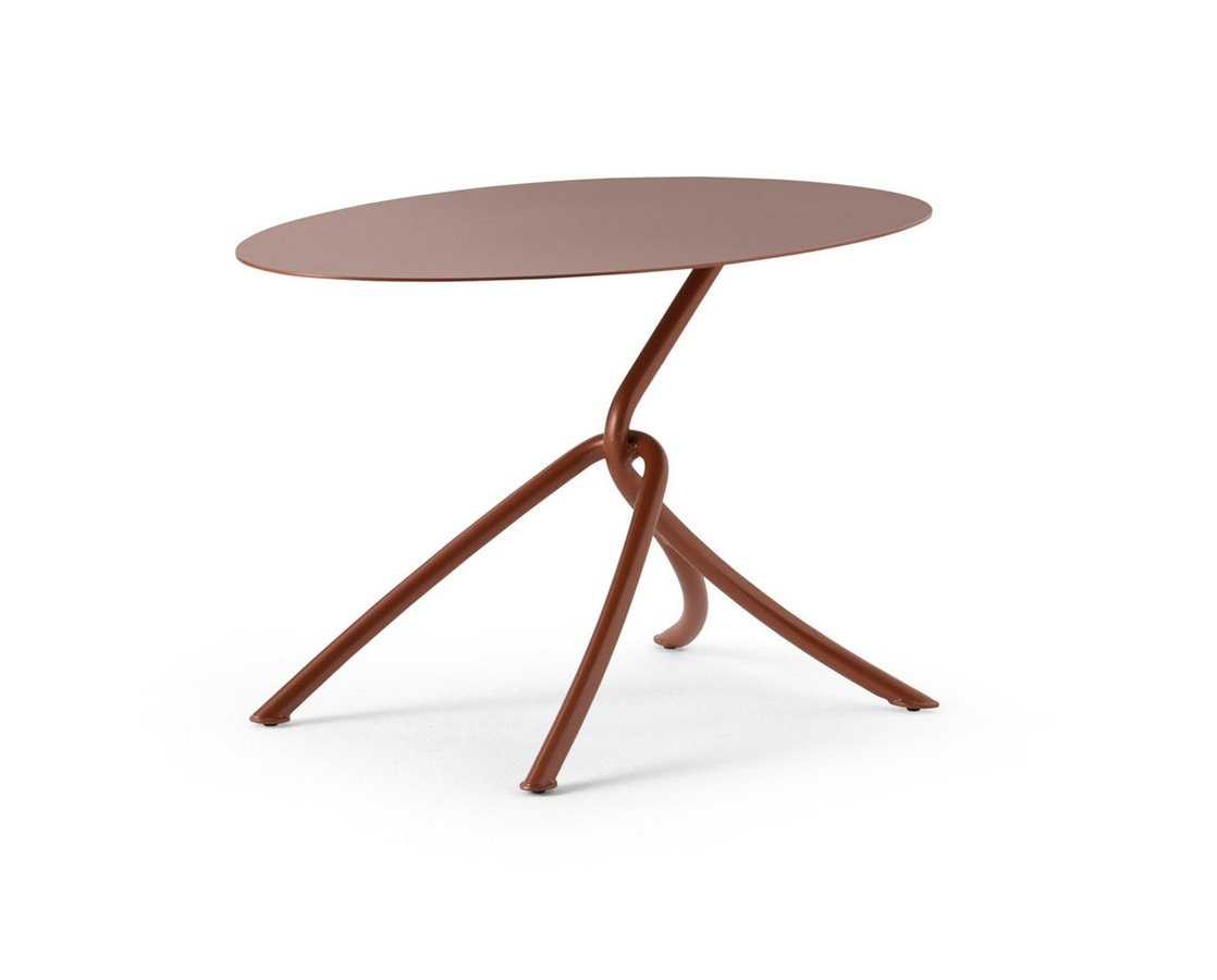ART. 0126 SKIN COFFE TABLE, Metal small table, also for outdoor use