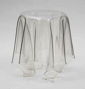 Art. 541 Fantasmino, Coffee table in transparent polycarbonate, also for outdoors