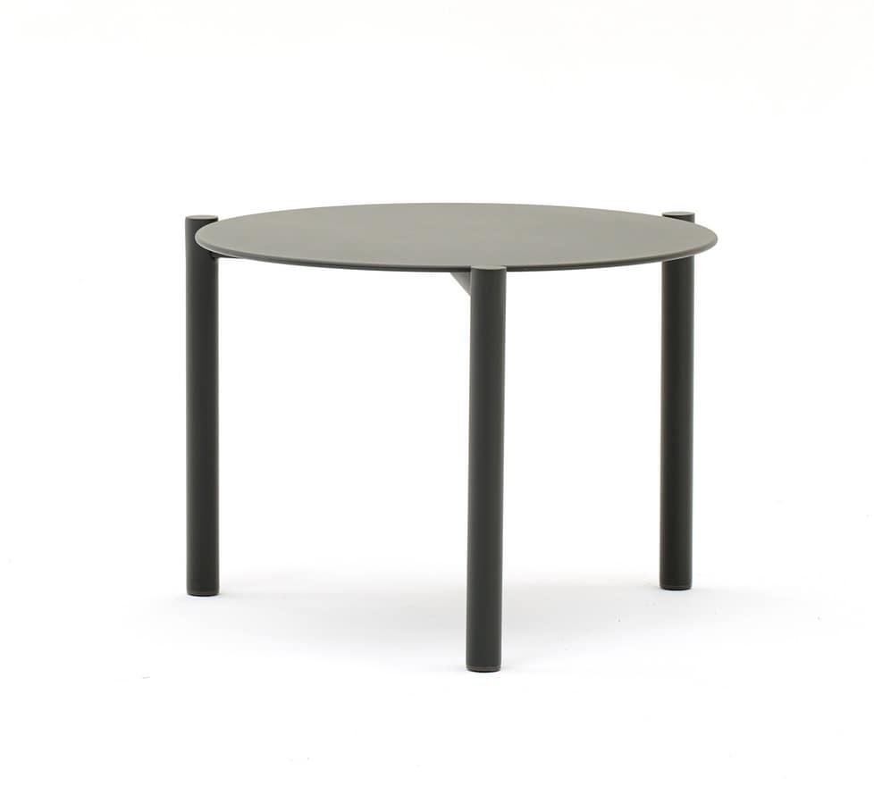 Prime Round Stackable Coffee Table In Aluminium For Outside Inzonedesignstudio Interior Chair Design Inzonedesignstudiocom
