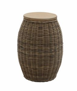 Bango Bongo 0470, Stool - coffee table, woven, round