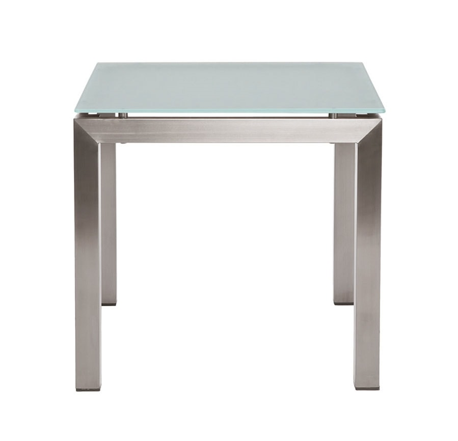 Berbeda 5411, Outdoor coffee table, in stainless steel and glass