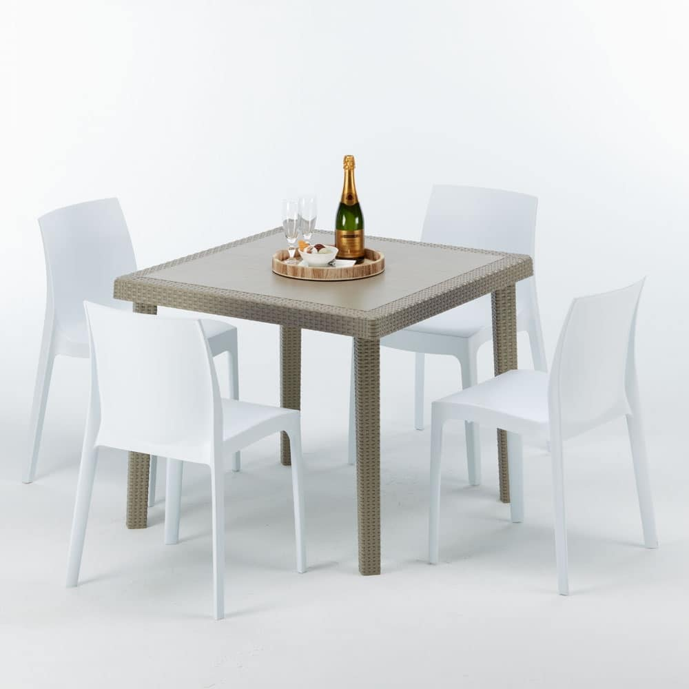 Poly Rattan Coffee Table Sturdy Made In Italy Idfdesign