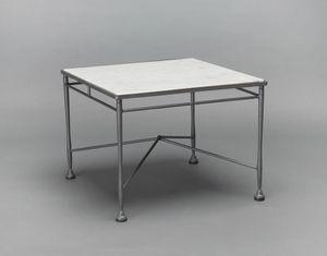 INTRECCIO GF4004TAS, Garden coffee table in iron and marble