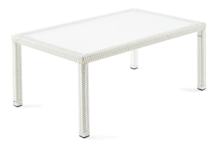 Lotus side table 2, Durable and practical coffee table, glass top, outdoor