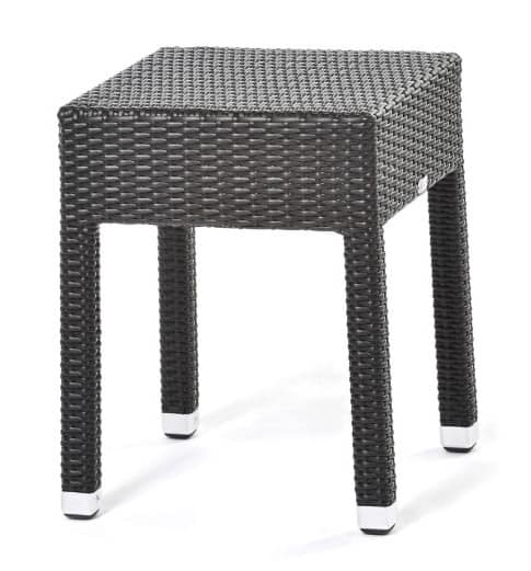 Lotus side table1, Coffee table in woven synthetic fiber, for outdoor use