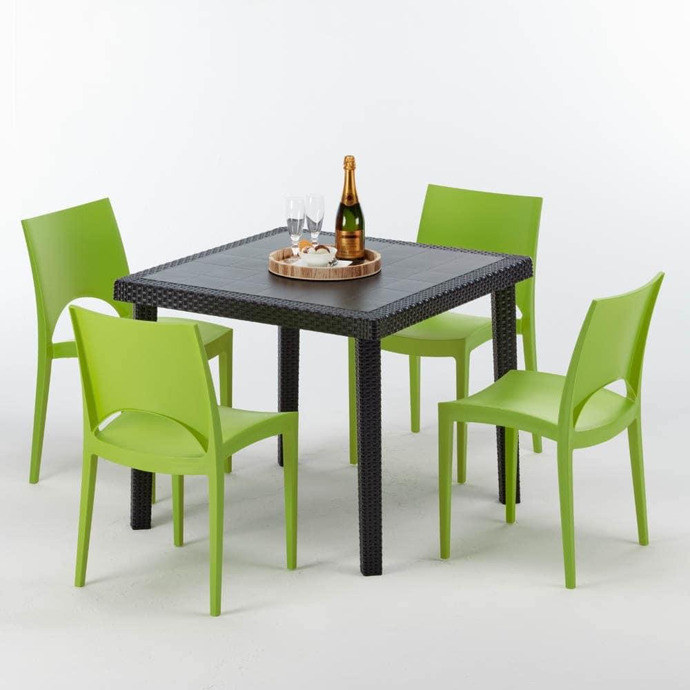 Tavoli Da Bar Per Esterno.Rattan Square Table For Outdoor Bar Idfdesign