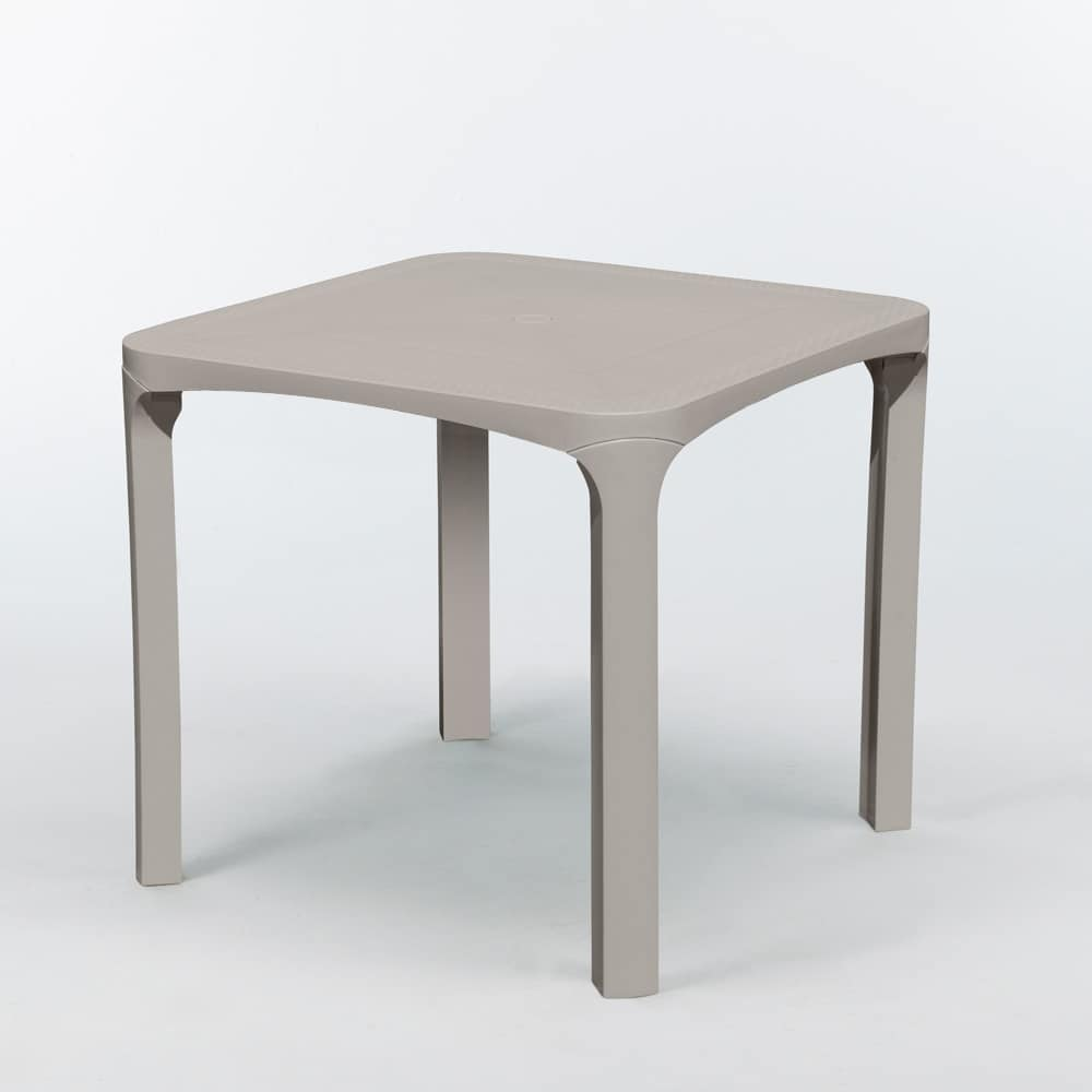 Outdoor garden bar table 80 x 80 cm Olè - S6945R, Outside table, resistant to sun and weather
