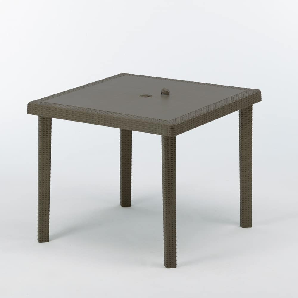 poly rattan outdoor bar table 90 x 90 cm Boheme - S7090, Garden square coffee table, in various colors