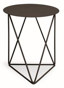 Ray, Metal coffee table also for outdoor environments