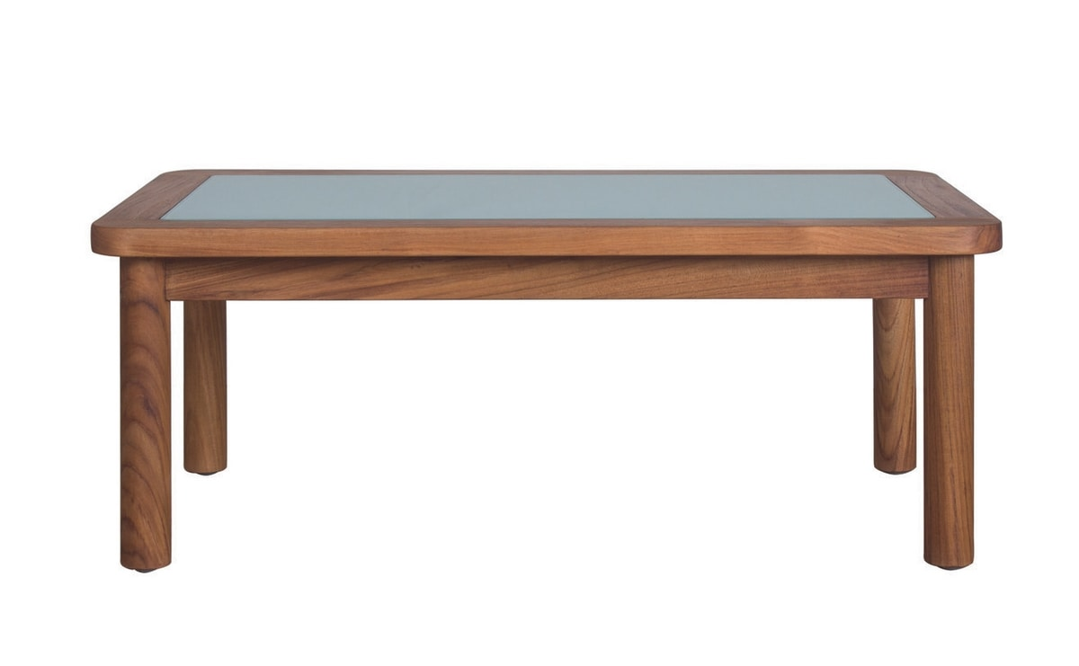 Ring 04C6, Garden coffe table in teak and glass
