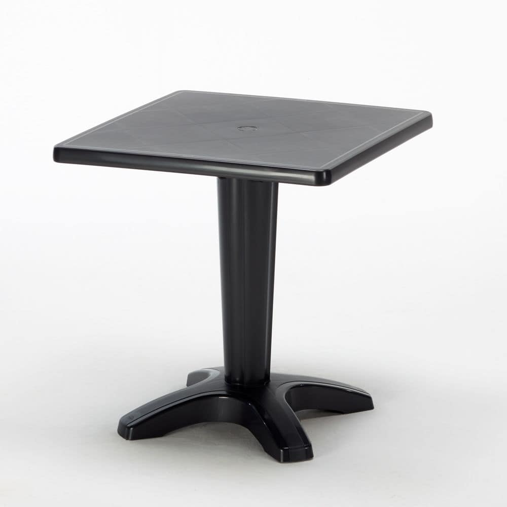 Bar garden outdoor table Zavor – S6933, Table made of polypropylene, with hole for sun umbrella, for outdoor
