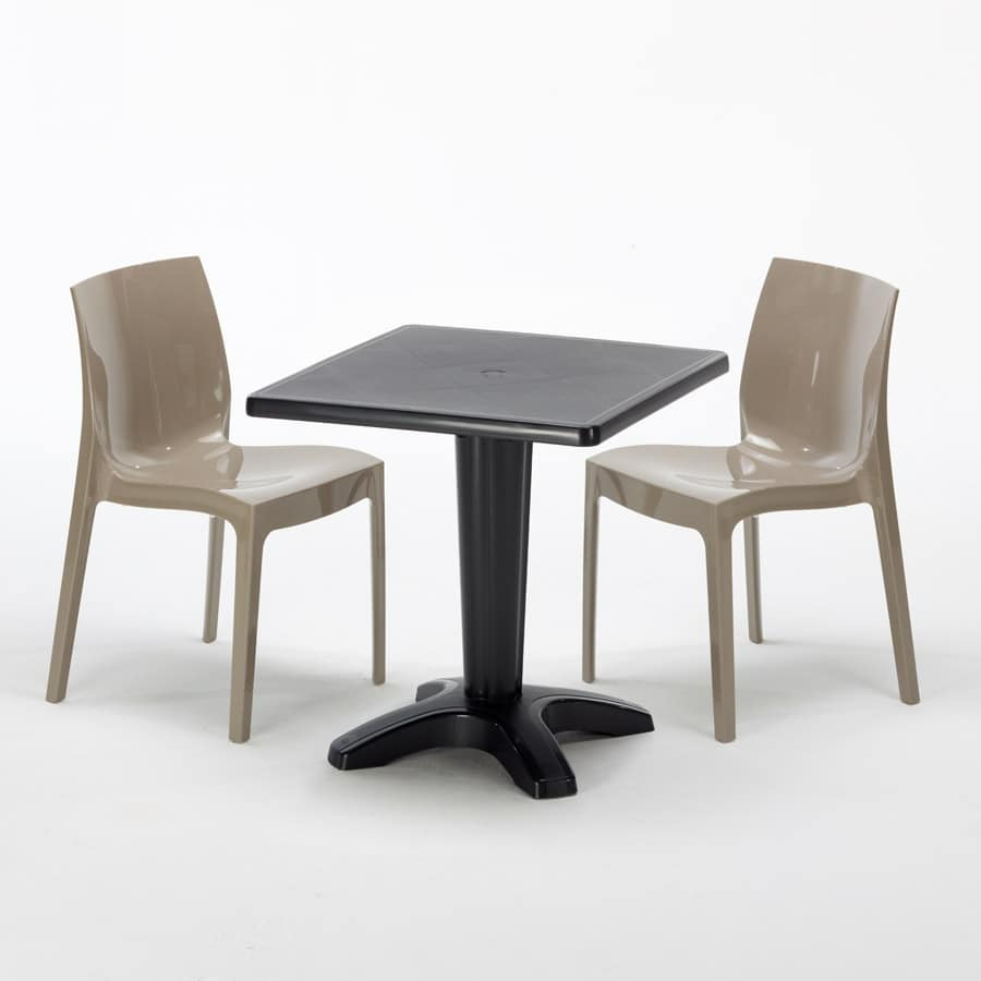 Sedie Per Esterno Da Bar.Table With Chairs For Restaurants Bars And Gardens Idfdesign