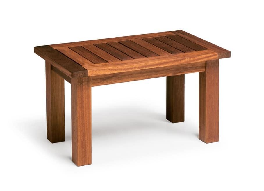 Sorrento/te, Iroko wood coffee table, for outdoor use