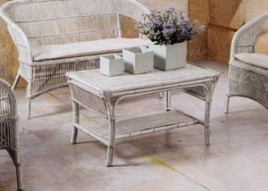 Tavolino Tais, Braided ethnic table for outdoor use
