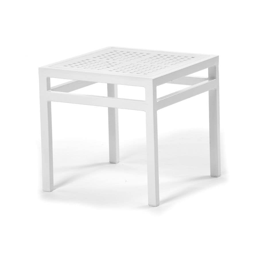 Victor coffee table 1, Square coffee table, in aluminium, for terraces and pools